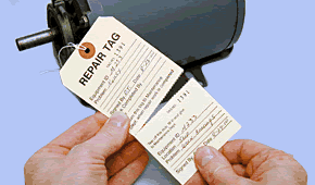 2-Part Repair Tags for Industry