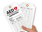 AED Safety Tags