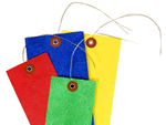 Blank Color Coded Tyvek Tags