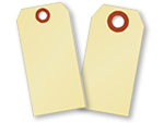 Blank Manila Tags with Large Holes