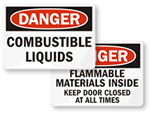 Combustible Liquid Signs