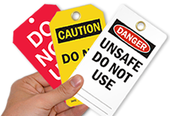 Durable Equipment Needs Repair Tags