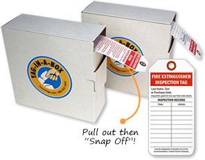 Fire Extinguisher Inspection Tags, Tag-In-A-Box