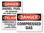 Flammable Label Packs