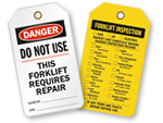 Forklift Safety Tags