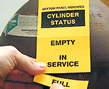 Gas Cylinder Status Tags