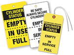 3-Part Gas Cylinder Status Tags