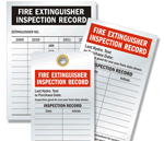 Indentable Fire Extinguisher Inspection Tags