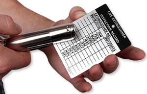 Monthly Fire Extinguisher Inspection Tags