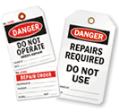 Safety Tags for Equipment Repair