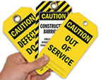 Caution Lockout Tags