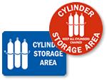Cylinder Storage Signs