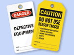 Defective Equipment Tags