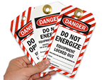 Equipment Locked Out Tags