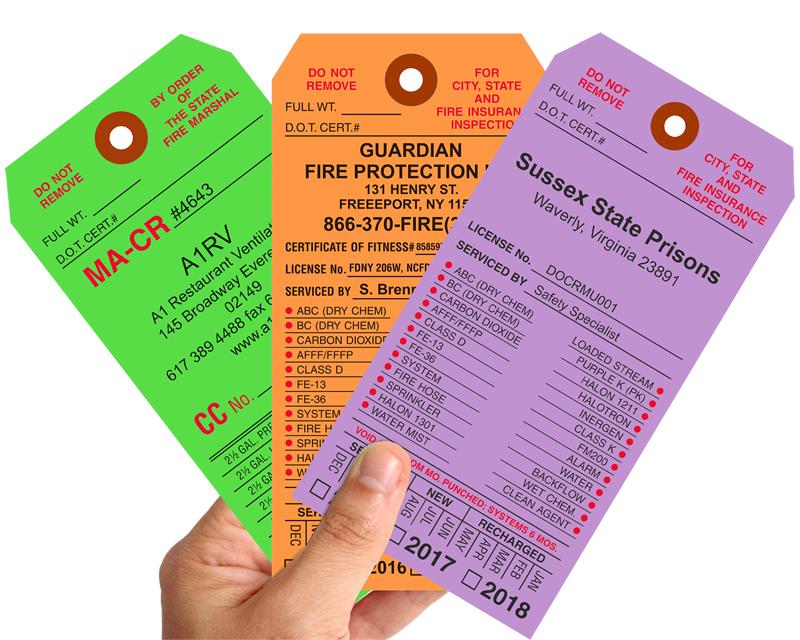Custom Fire Extinguisher Tags