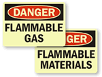 Glow-In-the-Dark Flammable Warnings