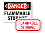 Flammable Storage Signs