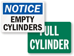 Gas Cylinder Signs