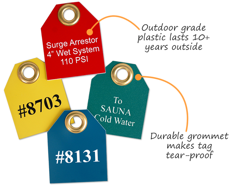 Plastic Valve Tags with Grommet