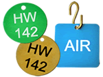 Anodized Aluminum Metal Valve Tags