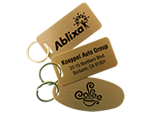 Brass Key Chain Tags