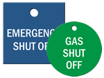 Engraved Shut-Off Tags