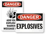Explosive Gas Signs