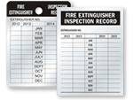 Fire Extinguisher Recharge & Inspection Tags