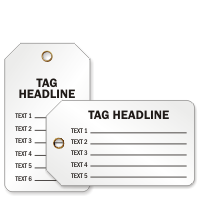Form Style Plastic Tags