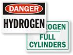 Hydrogen Cylinder Signs