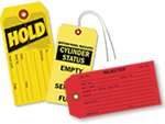Cardstock Inspection Tags