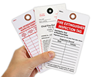 Fire Extinguisher Tags   Fire Extinguisher Inspection Tags