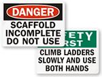 Ladder Warning & Instructional Signs