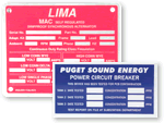 Metal Equipment Nameplates