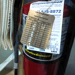 Fire extinguisher tags 2016