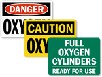Oxygen Flammable Signs