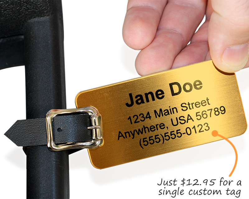 Custom Brass Luggage Tags