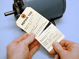 Perforated Tags, Inspection Tags