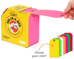 Color Coded Tags in A Box