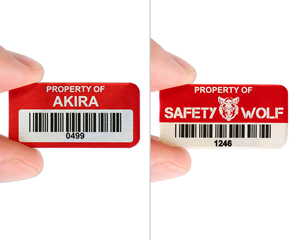 Custom metal asset tag