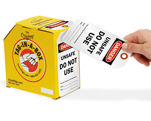 Do Not Use Tag in a Box