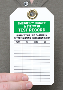 Emergency Shower and Eye Wash Test Record