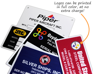 Free Printed Logo Metal Tags in Full Color