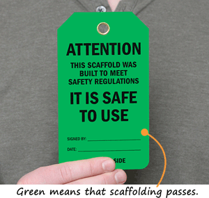 Green Scaffold Tags