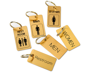 Stock Brass Key Chain Tags