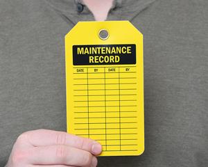 Maintenance Record Tags