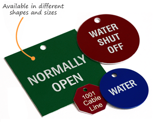 Metal Tags Available in different shapes and sizes