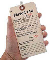 Industrial Repair Tags