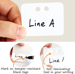 White Blank Self-Laminating Plastic Tag