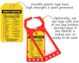Forklift Inspection Tag Holders